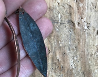 Hammered Copper Leaf Dangles