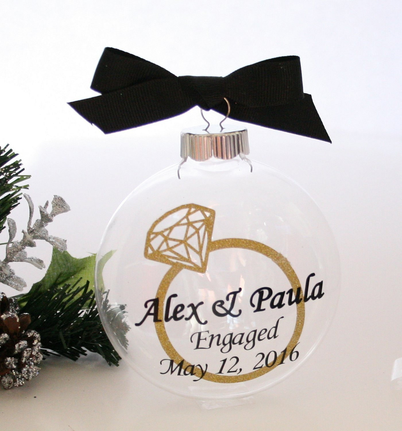 We\'re Engaged OrnamentEngagement Ornament Engaged