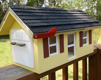 Custom Wood Mailbox Country Home. Any Color .Weatherproof and built to last.