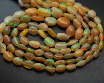 15 Inch Strand,Yellow ETHIOPIAN Opal Smooth Nuggets,8-12mm size