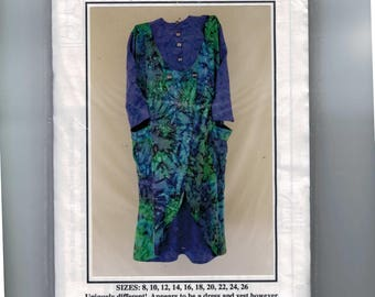 Misses Sewing Pattern Every Woman's All-Day Shopping Dress CNT Pattern Company Boutique Built In Vest 8 10 12 14 16 18 20 22 24 26 UNCUT