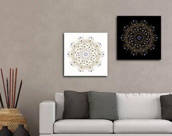 2 poster poster paper, digital Mandala art circle sphere instant download 5 X 5 8 X 8 10 X 10 12 X 12 15 X 15 16 X 16 18 X 18 20 X 20 30 X 30 50 X 50