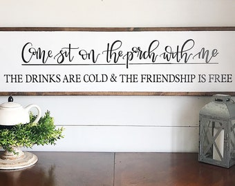 Farmhouse porch sign, wood sign, home decor, outdoor sign