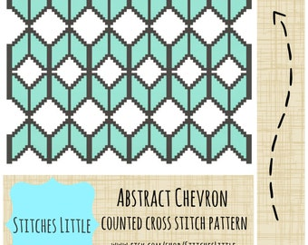 Chevron Cross Stitch Pattern - Geometric Cross Stitch - Modern Cross Stitch - PDF Pattern - Instant Download