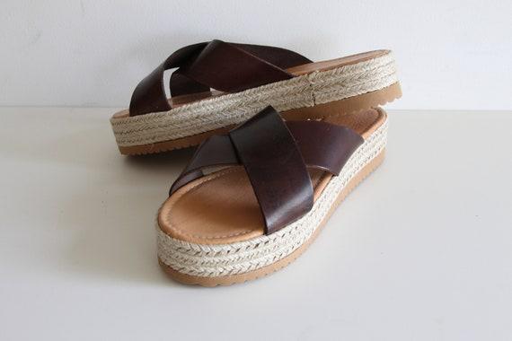 sandals SANDAL espadrille flatforms ESPADRILLES wedge SLIPPERS sandals leather sandals 4PIBwZqp