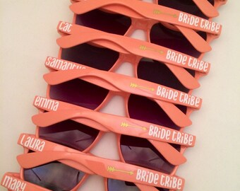 Personalized Sunglasses, Bachelorette Party, Bachelorette Favors, Wedding Favors, Bride Tribe. Custom Sunglasses, Wedding Favors