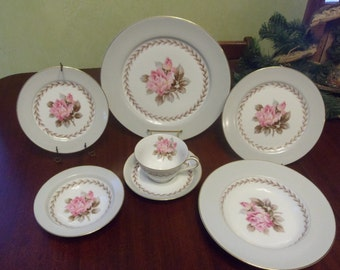 Noritake China,  Rosemont Pattern, 7 Piece Table Setting