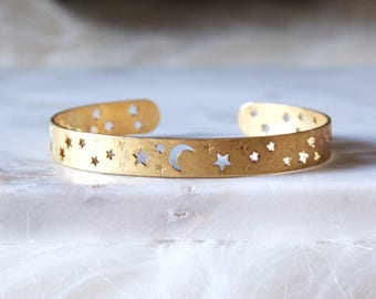 Moon and Stars, Crescent Bracelet