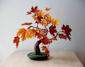 Maple Autumn Tree - Artificial Bonsai   MADE TO ORDER