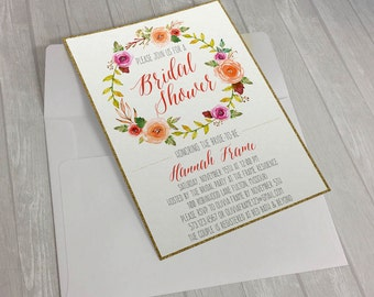 Bridal Shower Invitation-5x7 Printable