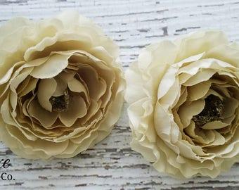 Silk ranunculus etsy clearance off lot of beige artificial ranunculus flowers wholesale artificial flowers for diy mightylinksfo