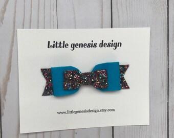 Blue lolipop bow  baby headband  hair clip