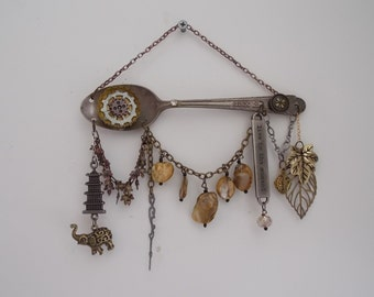 Altered Spoon Altered Art Silverware Steampunk  A5