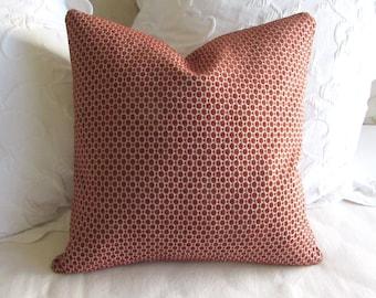 Chenille decorative Pillow Cover 18x18 20x20 22x22 24x24 26x26 poppy