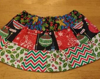 Holiday Holly Christmas skirt