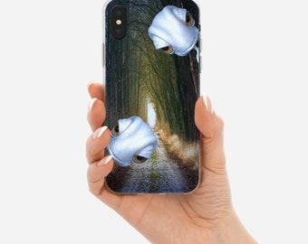Cute Alien Peeking iPhone Case, iPhone 6/6S case, iPhone 7/7S case, iPhone 8/8S case, iPhone X case, iPhone 8 plus