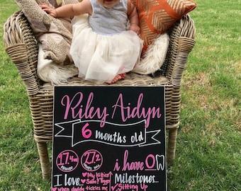 Monthly Milestone Baby Chalk Board