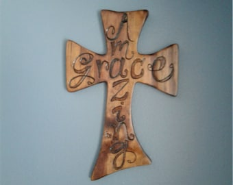 Wooden cross wall hanging ***made to order only at this time***
