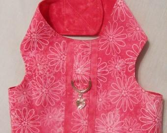 Pink floral harness vest