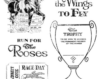 Graphic 45 Off To The Races Stamps 2, SC007676