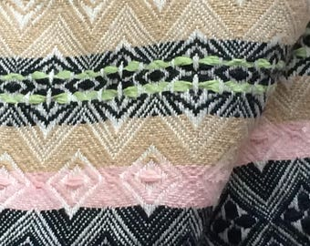 Fabric multicolor cotton jacquard in 150 cm wide