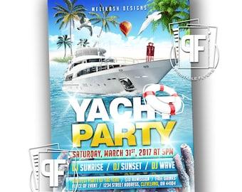 Cruise invitation etsy yacht party flyer yacht invitation cruise invitation boat invitation all aboard invitation stopboris Gallery