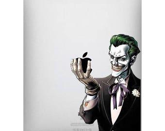 ipad decal sticker Joker holds apple art for Apple Tablet