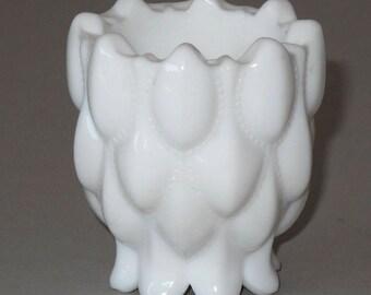 Fostoria Frisco Milk Glass Toothpick Holder