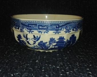 Stoneware Blue Willow Bowl