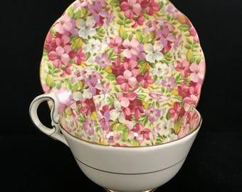 Vintage Chintz Tea Cup
