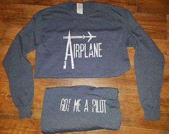 Airplane Grey Long Sleeve Widespread Panic Lot Shirt