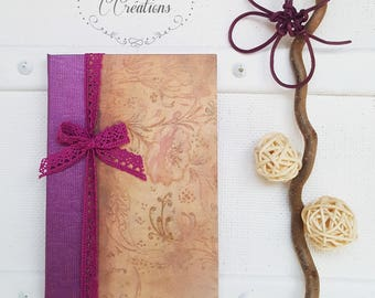 Small Notebook, purple and sequins