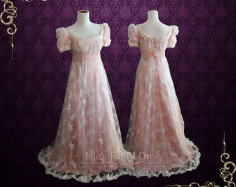 Pink Regency Princess Ball Gown Inspired formal evening Gown Prom Dress | Helena