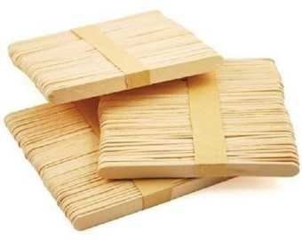 "Flat Natural Wooden Lollipop Sticks 4.5"" (114mm)"
