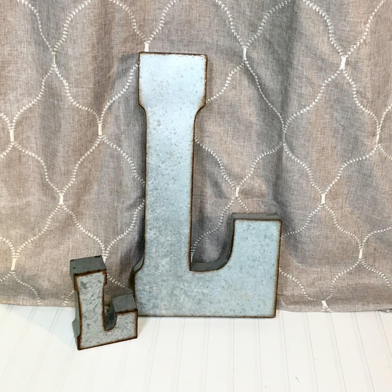 12 Inch Galvanized Letters Large Metal Lettersfarmhouse Lettersgalvanized