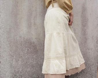 Gypsy skirt ~ Natural clothing ~ Gitana skirt ~ Steampunk ~ Boho long skirt ~ Lagenlook clothing ~ Pixie ~ Felt skirt ~ Nuno felt clothing