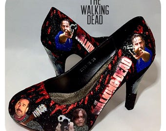 The walking dead comic book shoes custom shoes wedding prom party cosplay womens shoes