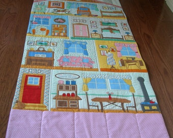 Doll House Play Mat-Playmat-Play Mats-Doll-Girl Christmas Gift-Roll Up Play Mat-Fold Up Playmat-Personalized-Fold Up Doll house