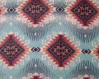 1.5 yards of Native American Print Fleece Fabric