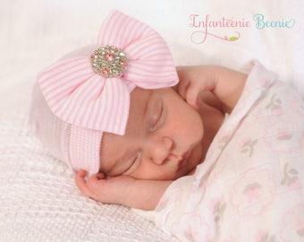 newborn hospital hat, newborn girl, READY to SHIP, baby girl hat, baby girl, hospital newborn hat, newborn hat, infant hat, baby hat- SALE