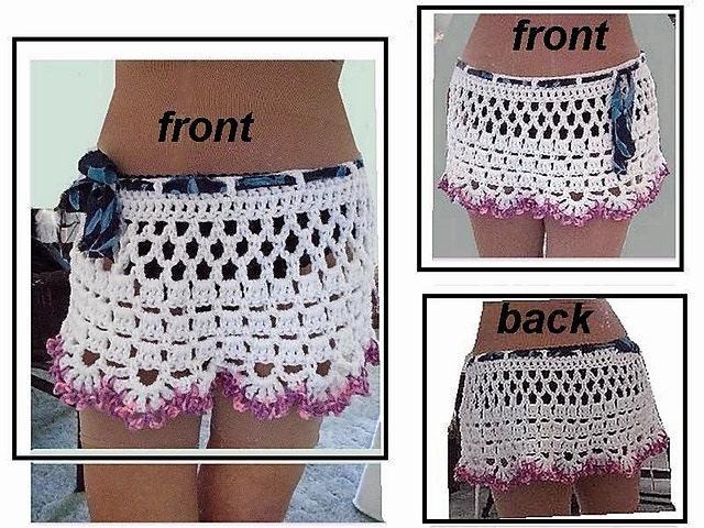 Crochet Pattern Beach Skirt Andor Cape Make Any Size Easy