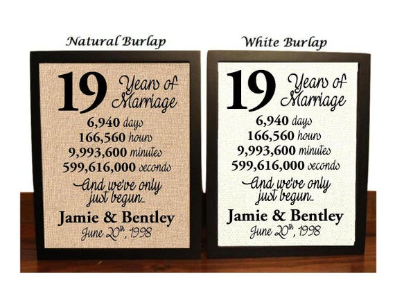 Gift For 19th Wedding Anniversary: 19th Anniversary 19 Year Anniversary 19th Anniversary Gift