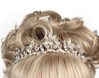 Wedding Tiara, Pearl Tiara, Crystal Tiara, Pearl & Crystal Tiara, Bridal Tiara, Tiaras And Crowns, Tiaras For Brides, Weddings