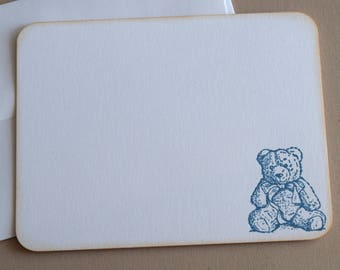 Teddy Bear Flat Note Cards - Set of 10