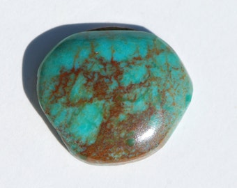 Natural Arizona turquoise, free form cabochon, 23.5 x 20mm