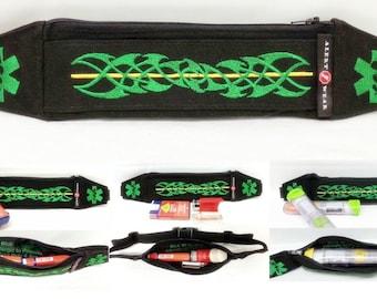 Auvi Q Case Super Slim Custom Waist Fanny Pack / Case for EpiPens, AuviQ, Diastat or Insulin Pump