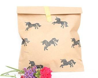 UNICORN Favour Bags - Unicorn party bags, sleeping unicorn, unicorn party, candy buffet bags, unicorn theme x 10