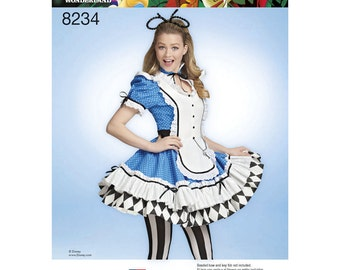 Simplicity Sewing Pattern 8234 Misses' Alice in Wonderland Cosplay Costume