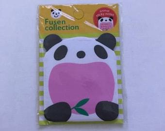 Panda Sticky Notes, Panda Post Its, Panda Stationery, Panda Paper, Gift For Panda Lover, Panda Notepad, Panda Bookmark. Stocking Filler.