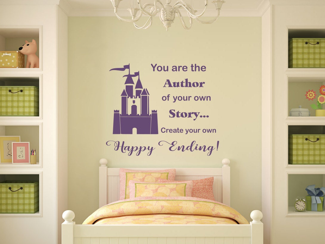 Castle wall decal, Princess castle decal, princess castle wall decal ...